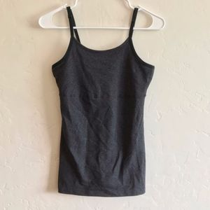 Beyond Yoga Gray Basic Athletic Style Tank Top Med